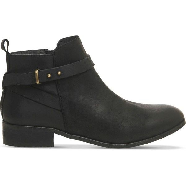 OFFICE Instinct leather ankle boots ($110) ❤ liked on Polyvore featuring  shoes, boots