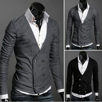 Men's Double Breasted Cardigan $29.95