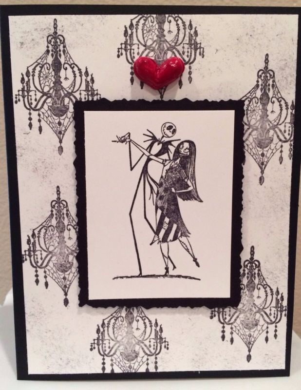 Nightmare Before Christmas Jack & Sally Handmade Valentines Greeting ...