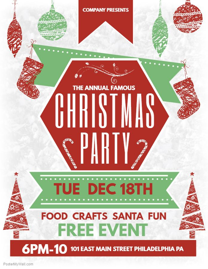 Christmas Party Event Poster Template Event Poster Template Free Christmas Flyer Templates Christmas Poster