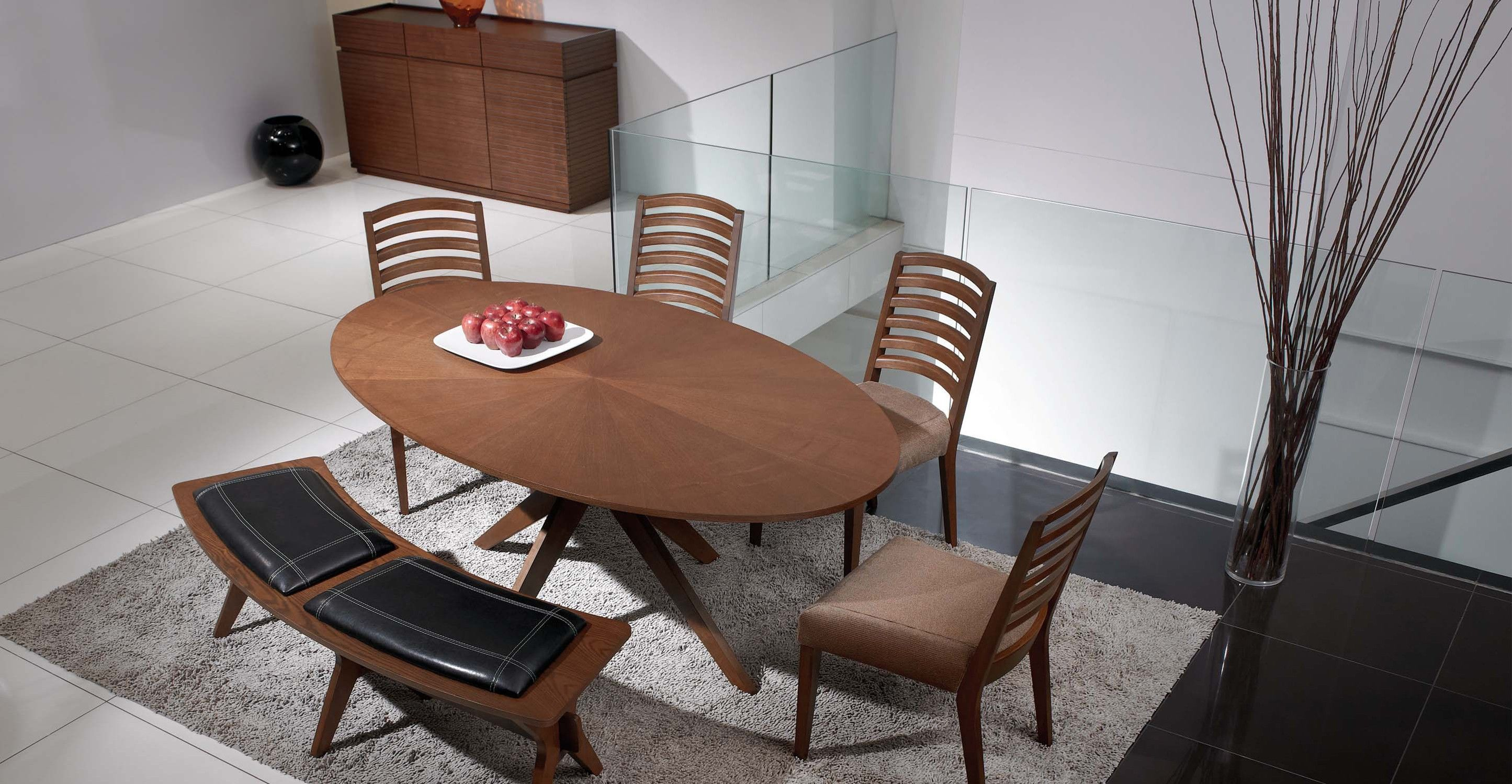 Oval Dining Table In Walnut Wood Article Conan Modern