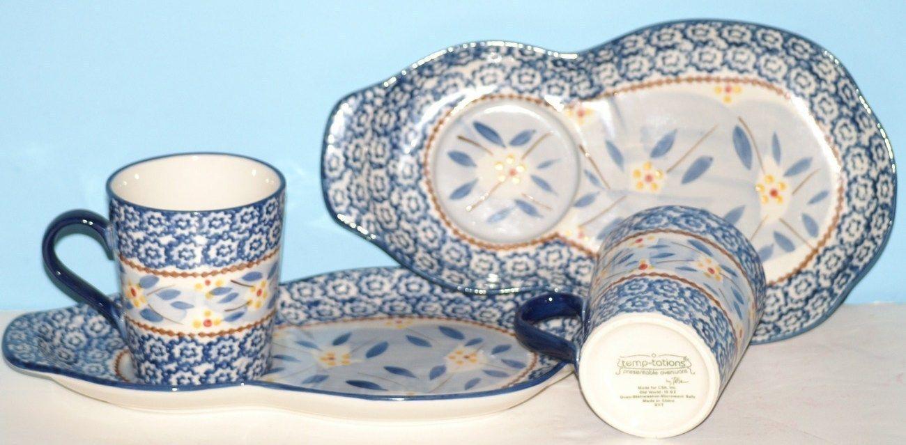 Temptations Dinnerware Sets | 020__4_.JPG & Temptations Old World 4 Piece Plate u0026 Mug Set | Dinnerware House ...