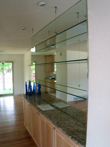 Mirror Wall And Glass Shelf Google Search Glass Shower Doors