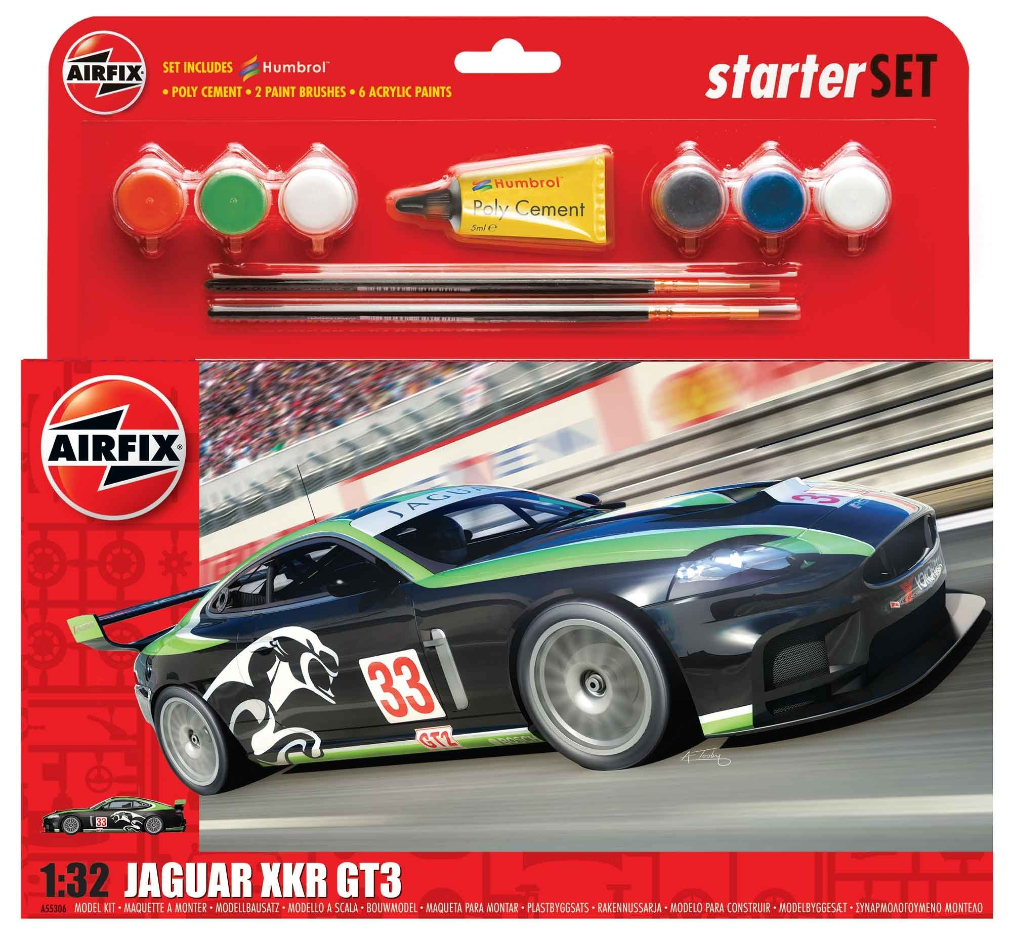 Jaguar XKRGT Starter Set 132 Model cars kits, Jaguar