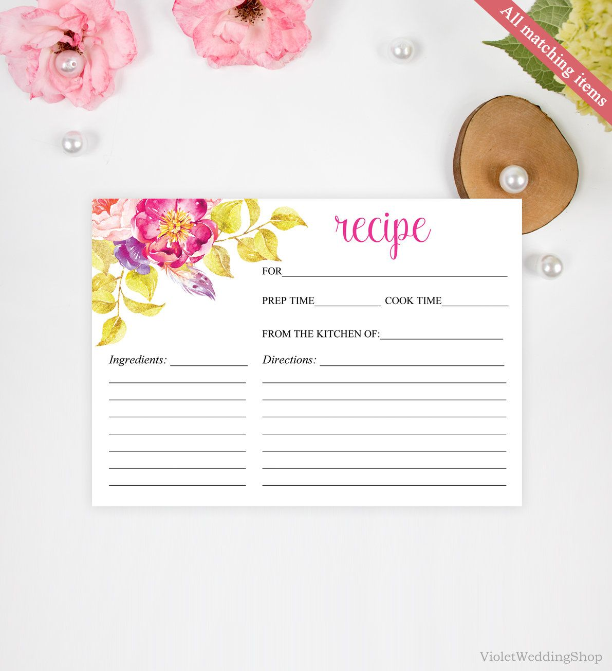 This item is unavailable Bridal shower recipes cards