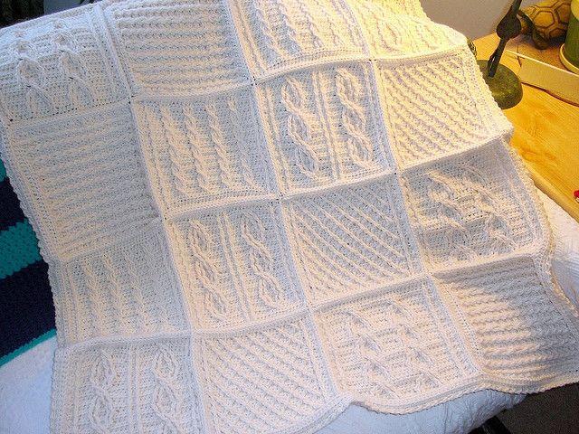 Crochet afghan ~ gorgeous sampler! | Crochet | Pinterest | Manta ...