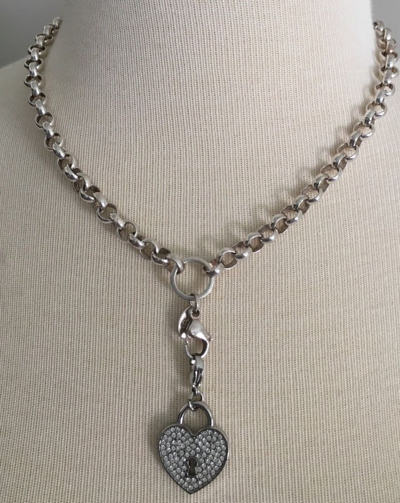 Origami Owl Rolo Chain Necklace With Heart Charm #OrigamiOwl #Charm