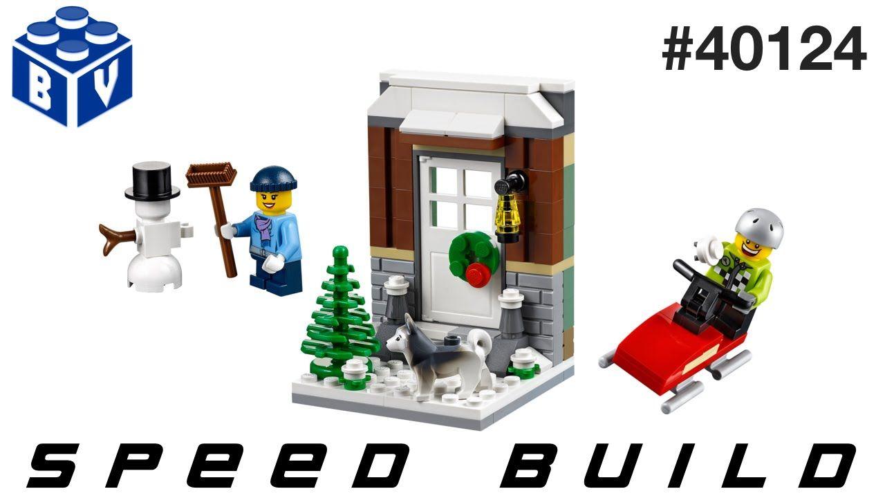 Lego winter fun speed build lego speed build videos
