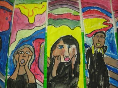 Great art projects for elementary classes.