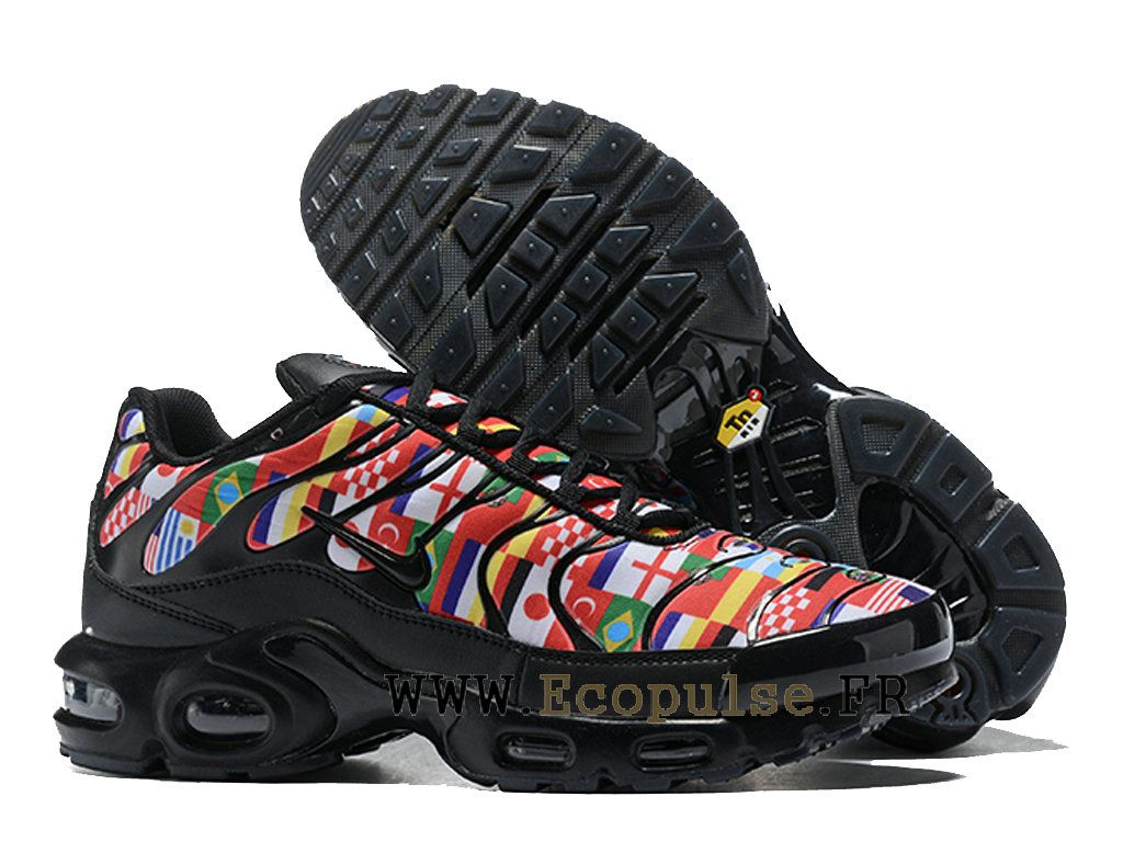 online store 40125 8922b Nike Air Max Plus NIC Tn 2018 Coupe du monde Chaussures Running Homme Rouge  Noir AO5117-001