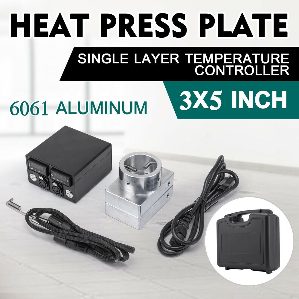 Ebay Sponsored 3x5 Rosin Press Plates Kit With Heating Rod Rosin
