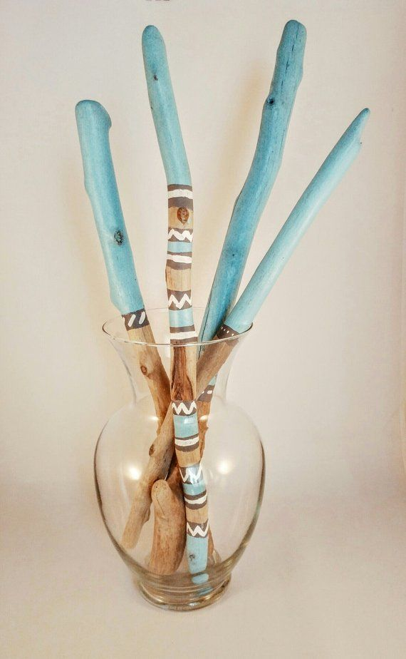 Painted Driftwood Sticks (Coastal Blues - Set 1)  Best Picture For  ideas for kids activities  For Your Taste  You are looking for something, and it is going to tell you exactly what you are looking for, and you didn't find that picture. Here you will find the most beautiful picture that will fascinate you when called  ideas de jardinería . When you look at our dashboard, you can see that the number of pictures in our account with  ide... #buy #Handmade #place #sell #sommerdeko für drinnen