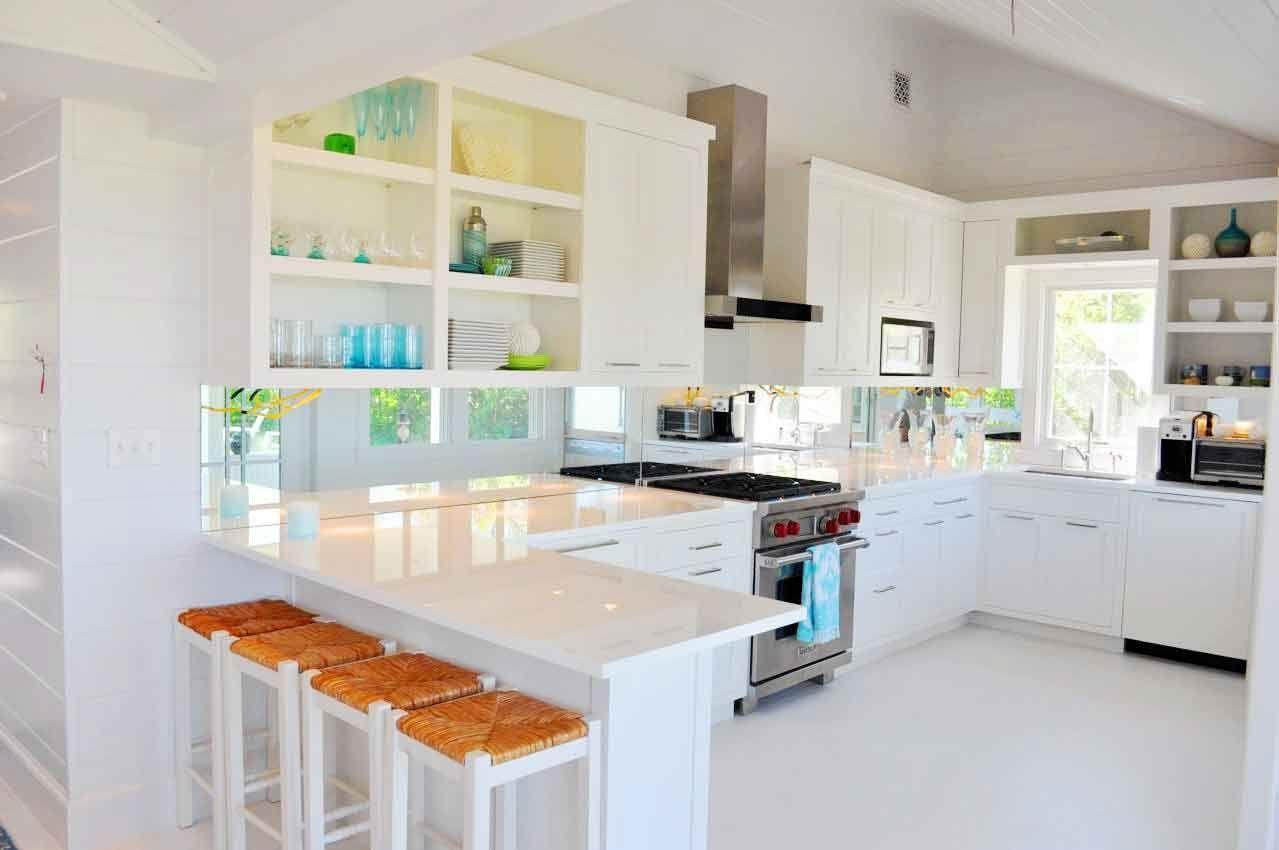 Cocina con forma de U blanca | Casas | Pinterest | Diseños de ...