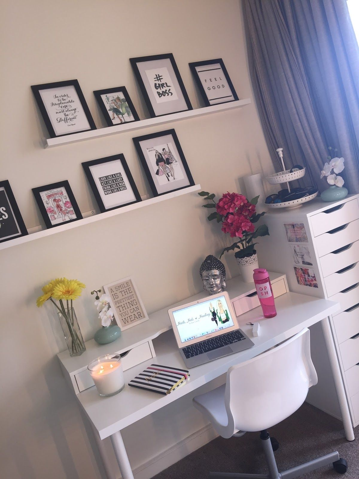 Hearts, Heels And Handbags My Home Office And Vanity Room