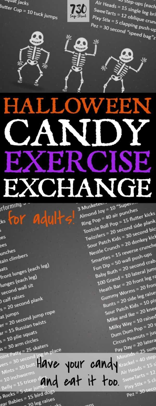 Halloween Candy Exercise Exchange for Adults (With images