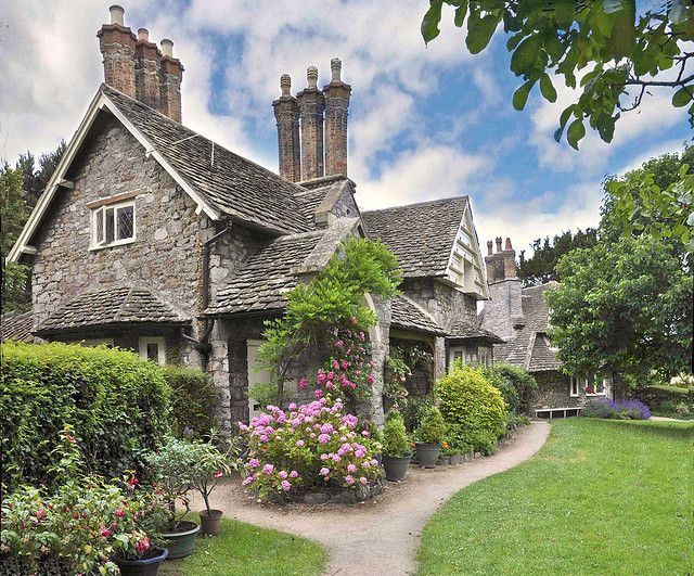 Double Cottage Blaise Hamlet Cottage House Designs Stone Cottages English Cottage Style