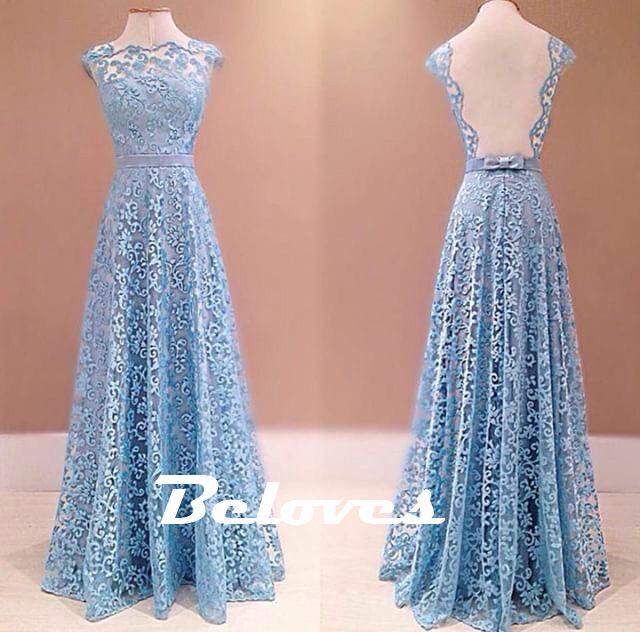 "Fabric:Lace Silhouette:Sheath Color:+Light+Blue Length:Floor+Length Back+Detail:Open+Back Custom+Made+:+We+also+accept+custom+made+size+and+color+.+Please+click+the+""contact+us+""and+send+your+size+and+color+to+our+email+.+Or+just+leave+a+message+to+us+when+placing+the+order+."