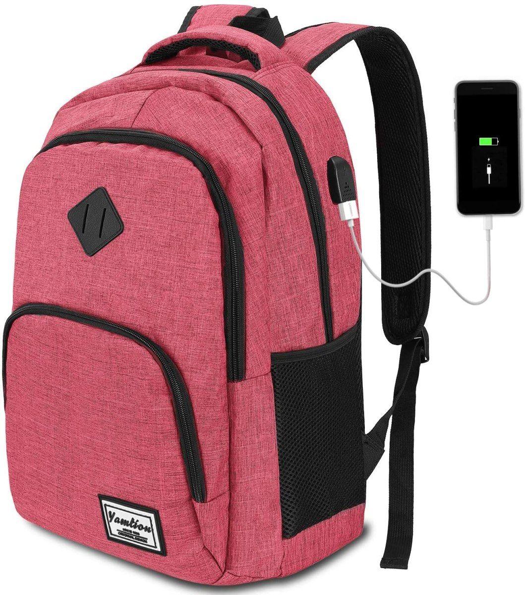 Mochila Para Portátil Con Puerto De Carga Usb Yamtion Laptop Backpack Mens Laptop Backpack Business College Backpack Laptop