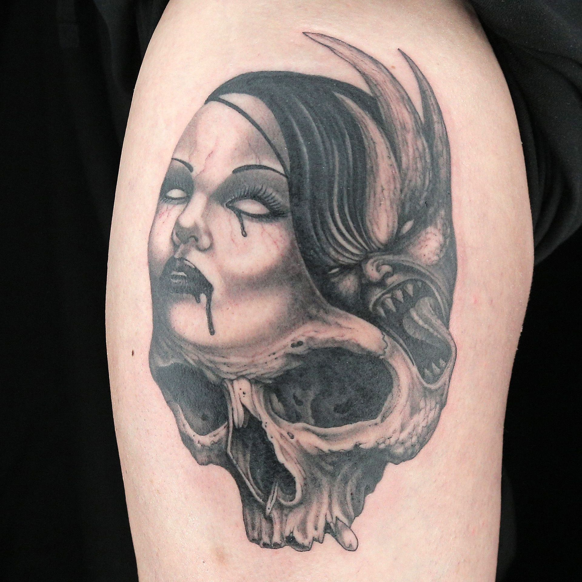 Tattoo by Steve Tefft Tattoos, Ink master, Portrait tattoo