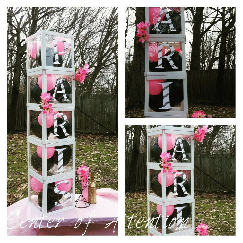 5 Large Clear Letter Name Boxes Decorations #Handmade