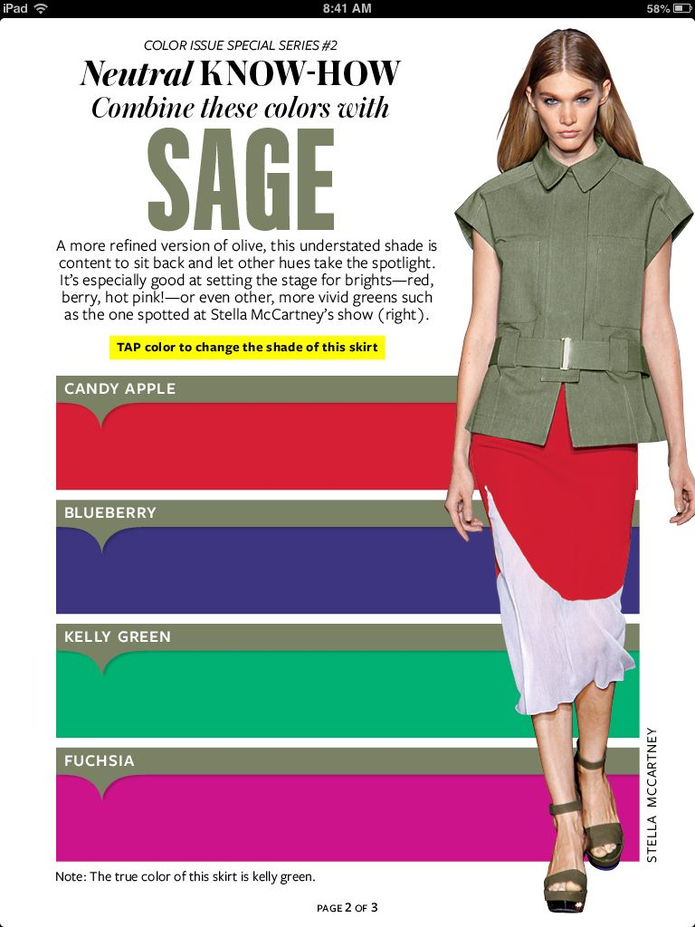 Instyle sage green instyle color crash course color - What color is sage green ...