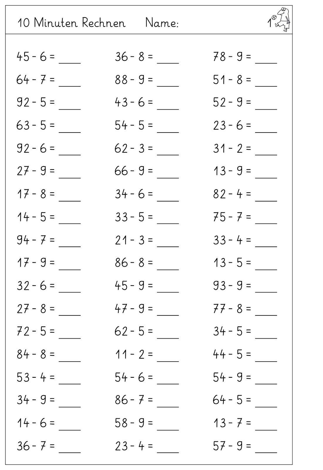 Der Zehnerubergang Im Zr 100 Mit Einstelligen Zahlen