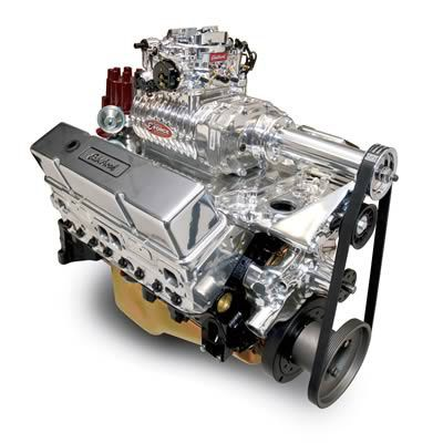 Edelbrock E-Force RPM Supercharged 350 C I D  507 HP Crate