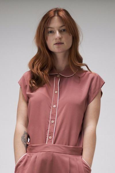 Smoky Pink Short Sleeve Shirt