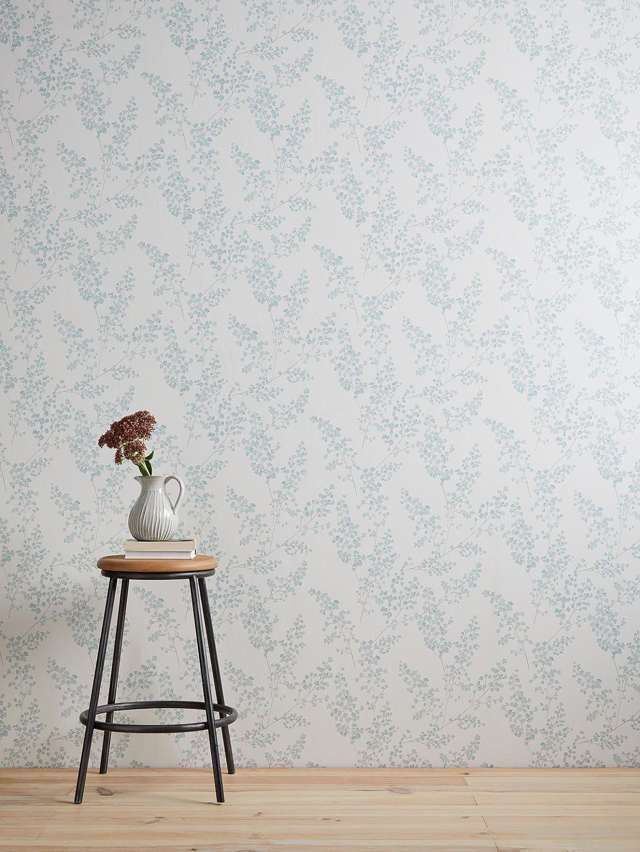 John Lewis Partners Everdene Wallpaper Duck Egg In 2020 G