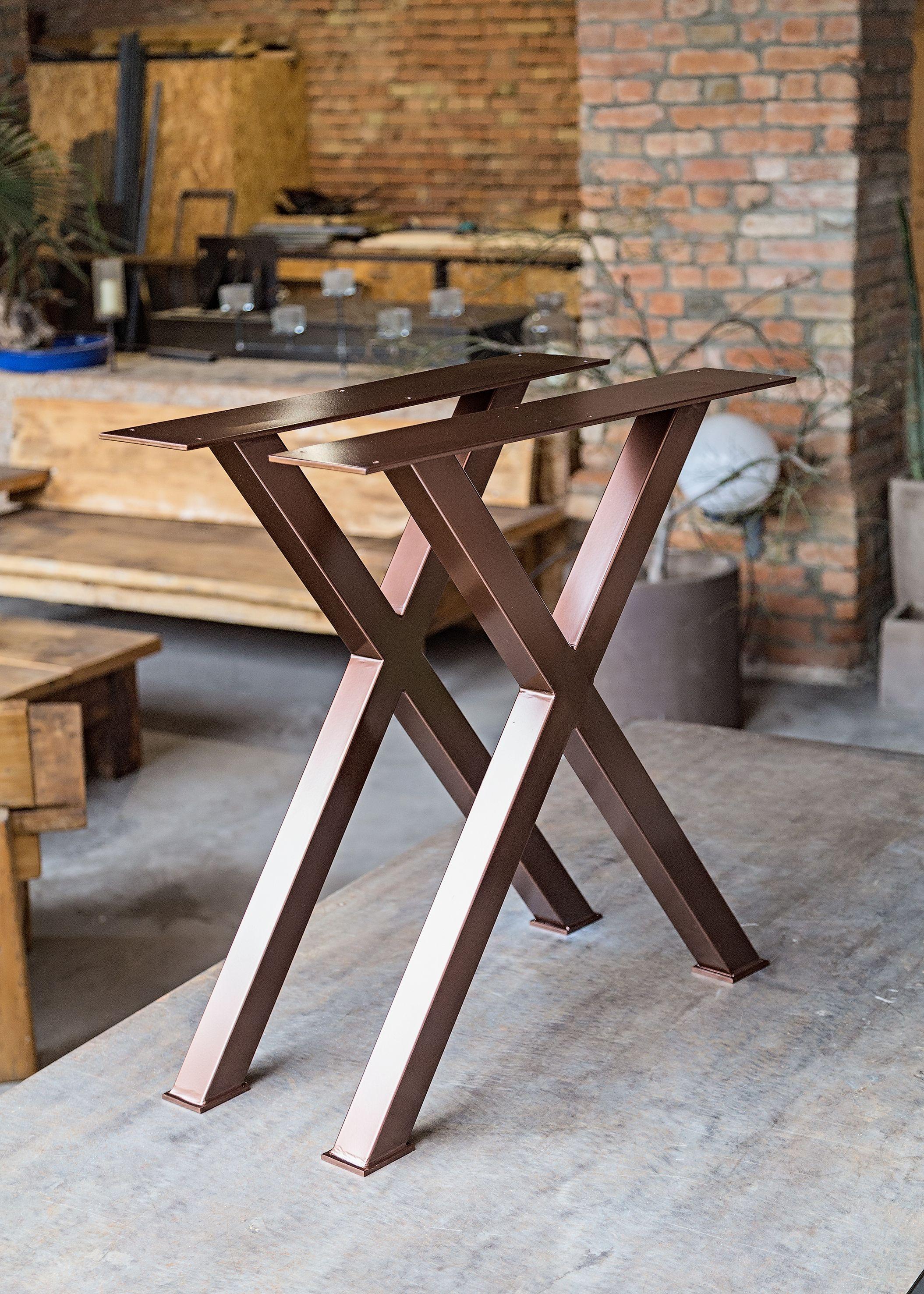 Coppia di gambe in ferro per tavolo da pranzo | Tavolo ...
