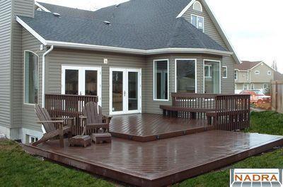 ground level deck   Backyard plan, Deck design, Backyard patio on Ground Level Patio Ideas id=97596