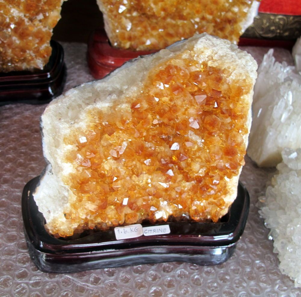 Citrine Geode Quality Display Piece with Stand 1.6Kg Crystals & Minerals