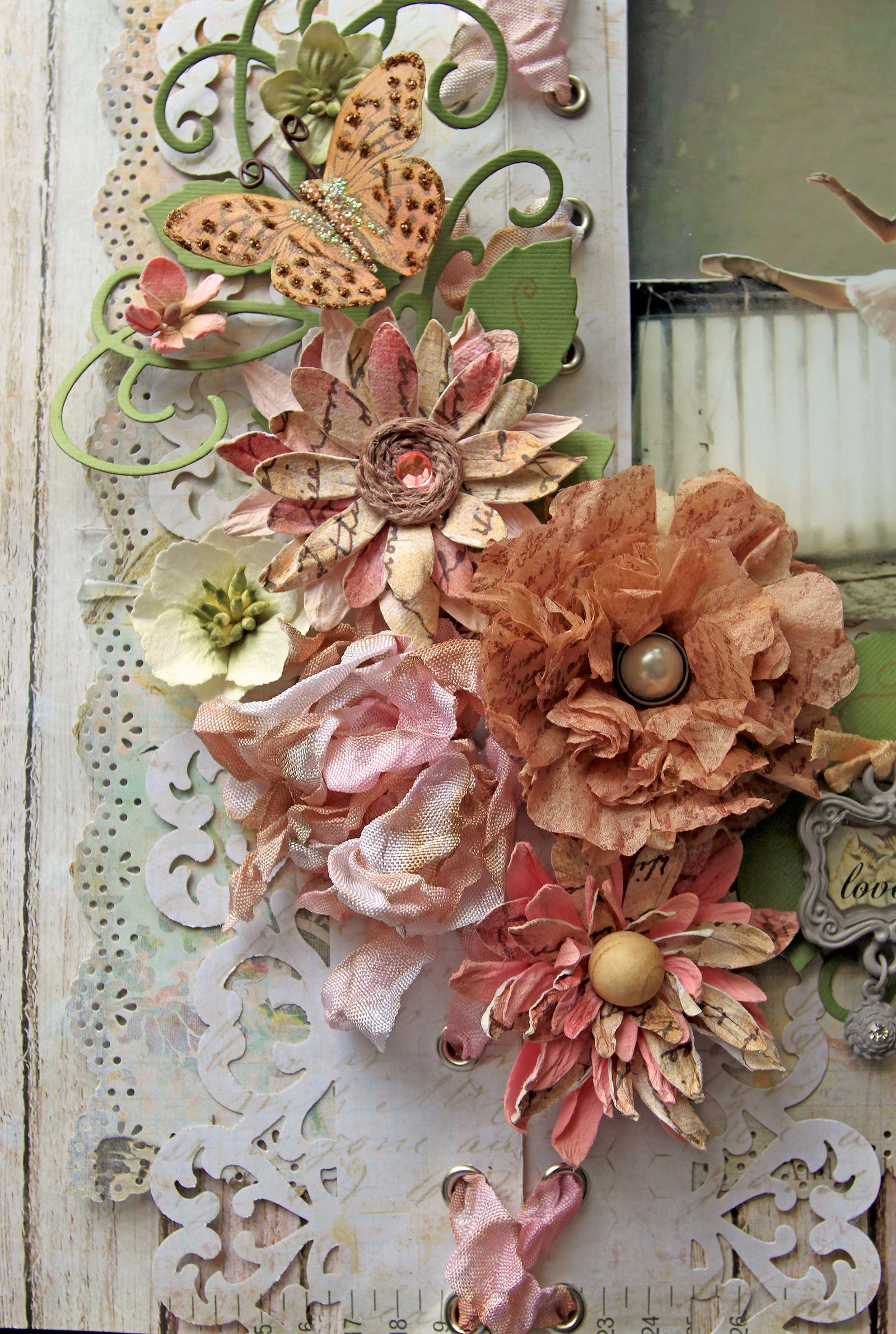 Tea Bag Flower Tutorial Scraps Of Elegance Scrapbook Diy