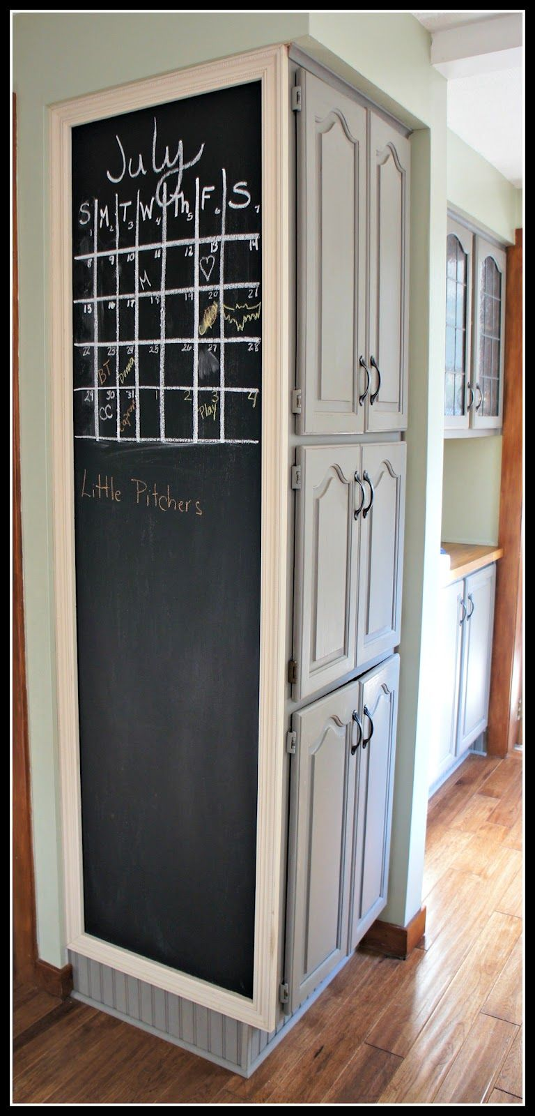Elegant Kitchen Chalkboard Calendar   Could Work On A Fridge