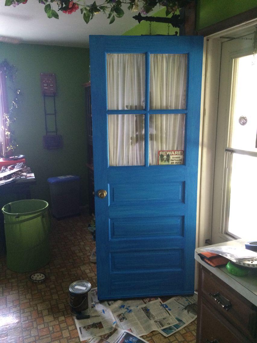 Two toned rubbed door