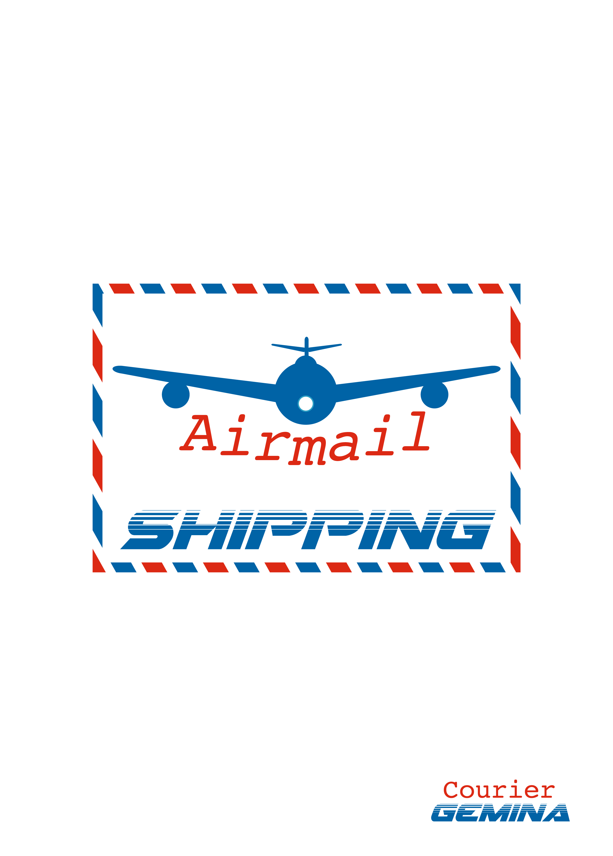 Airmail Shipping Exercise with fonts