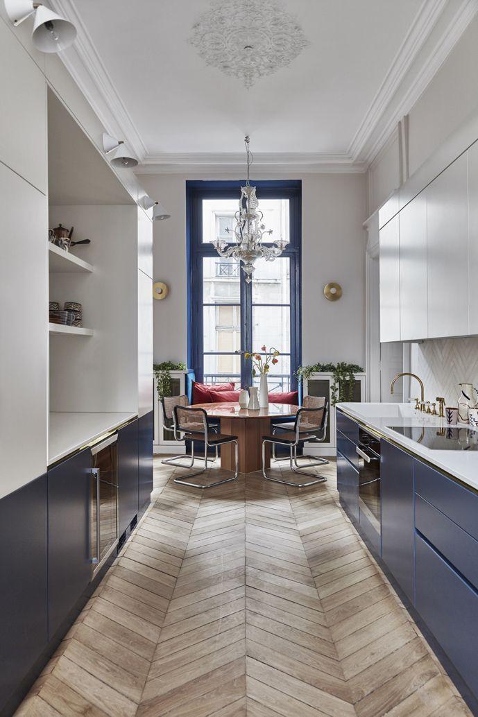 Cuisine Appartement Parisien De 160 M2 Gcg Architectes