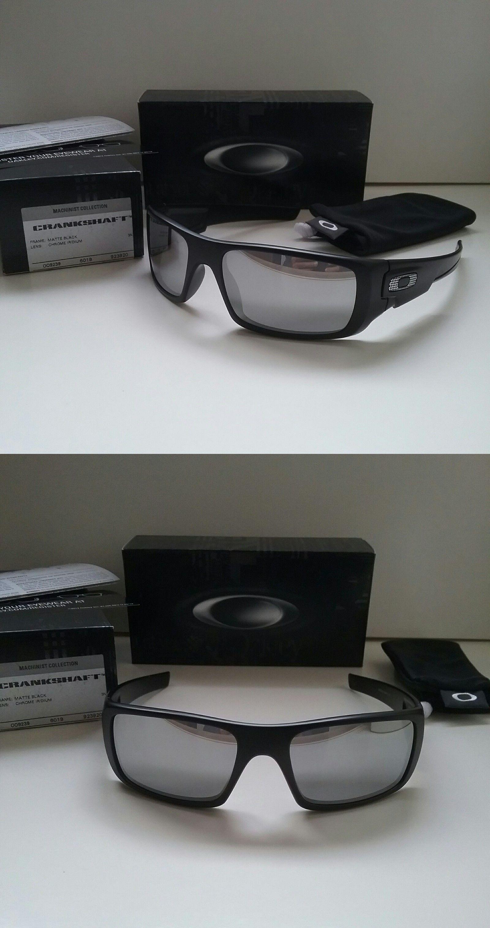 3543a3870a5 ... australia sunglasses 79720 new oakley crankshaft machinist coll. matte  black chrome sunglasses fuel cell 02a50