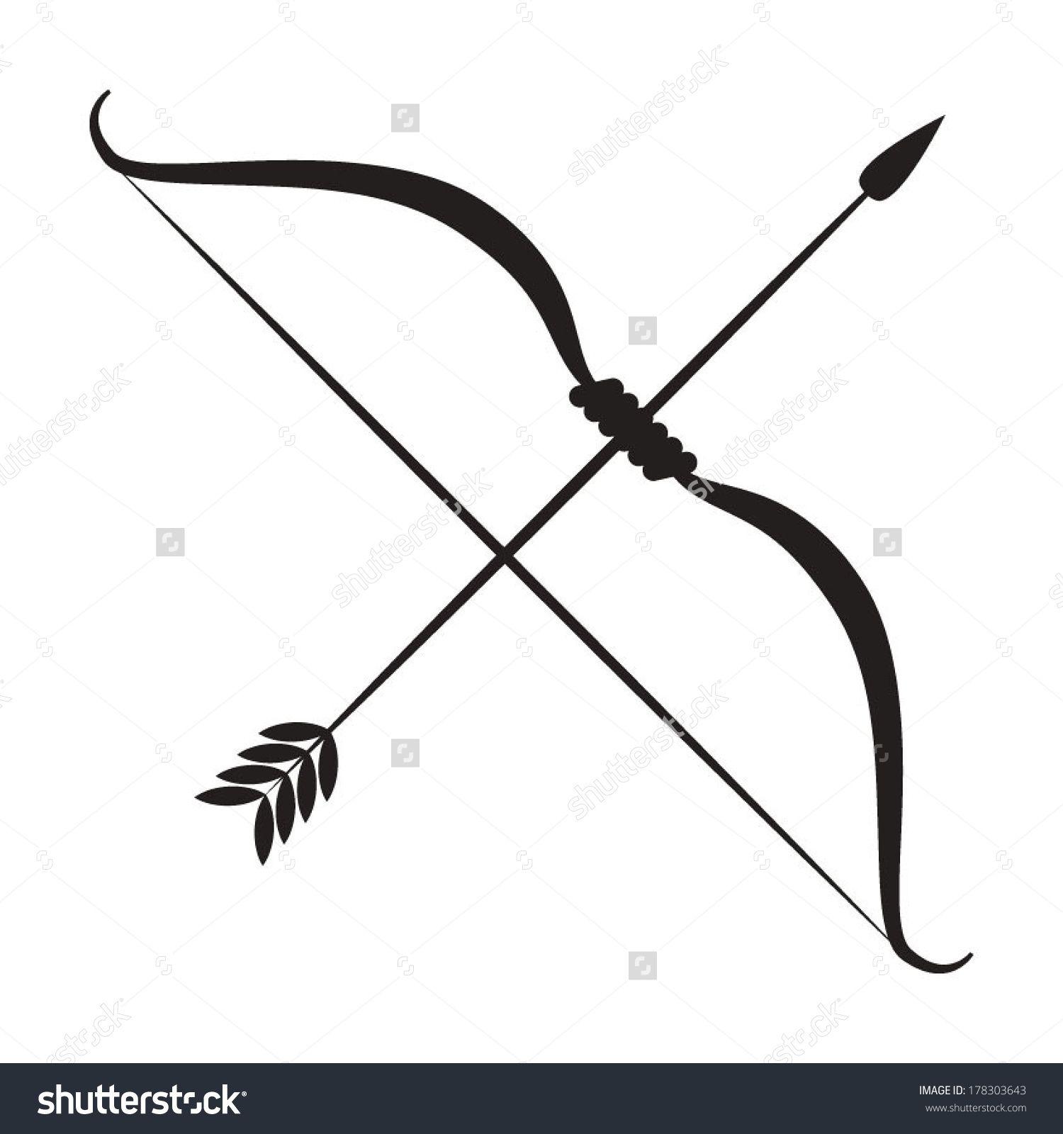 Https Image Shutterstock Com Z Stock Vector Bow And Arrow 178303643 Jpg Bow Arrow Tattoos Mens Arrow Tattoo Arrow Silhouette