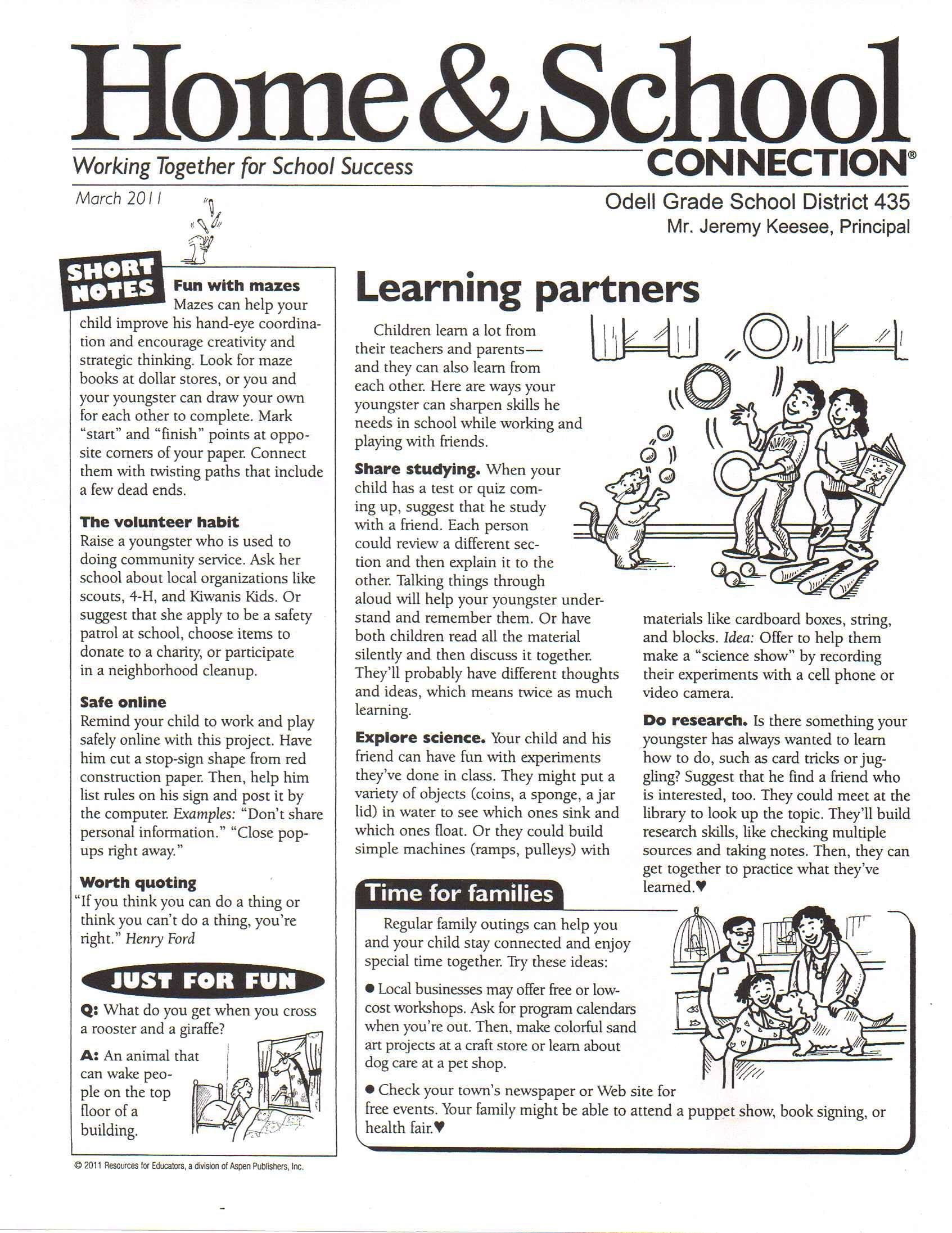 March School Newsletter Templates  Learning Theory Newsletter