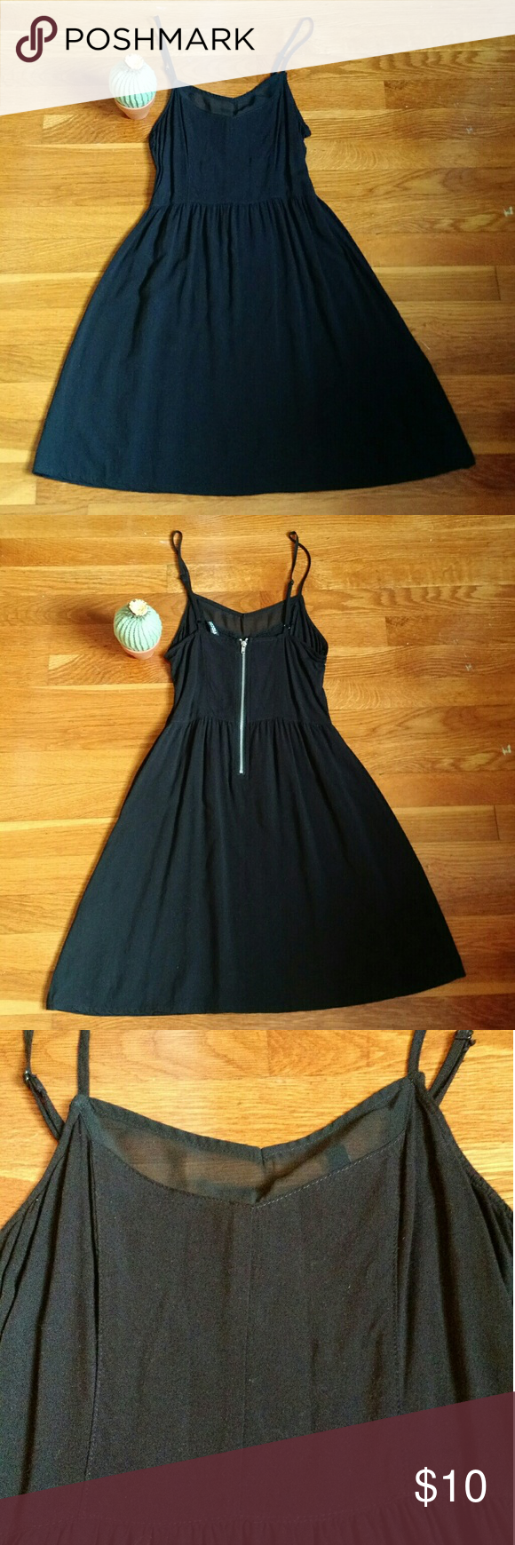 Black skater dress w mesh detail hum dividend tight on top with