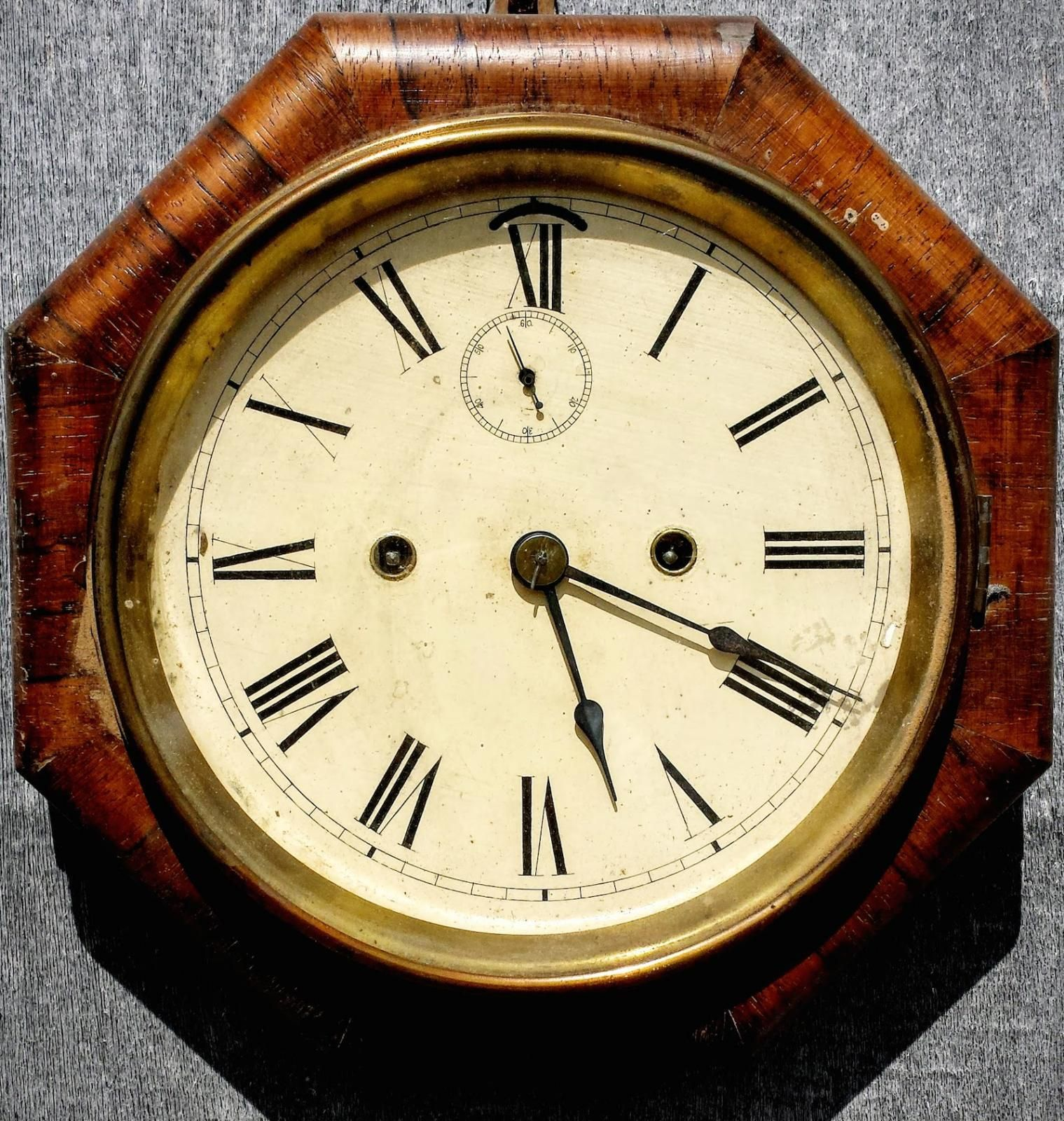 Art Deco American Ansonia Rosewood Wall Clock | Looking For Antiques ...