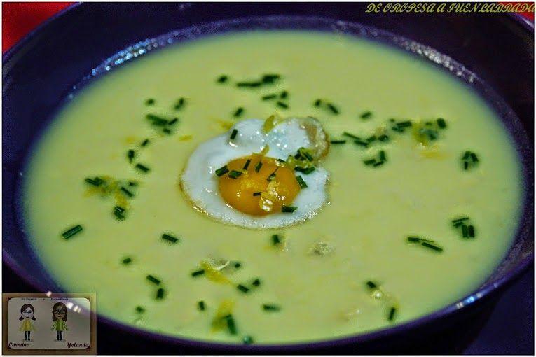 """Sopa griega de huevo y limón (avgolemono) del blog De Oropesa a Fuenlabrada Cocineros del Mundo: Recetas Participantes en el Reto de Febrero 2015 """"Huevos o Cítricos"""""""