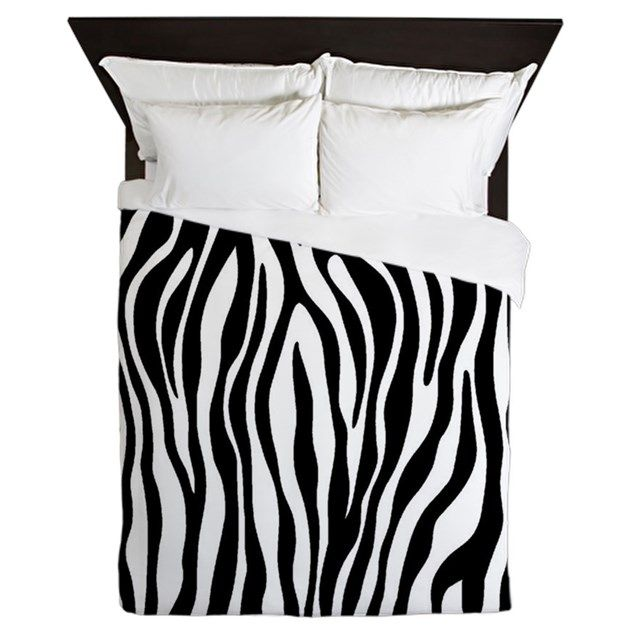 """Zebra Personalize your bedroom and protect your comforter with a custom duvet cover. Duvet Size: 88"""" x 88""""Lightweight:100% woven polyester, soft fleece top, microfiber underneathLu"""
