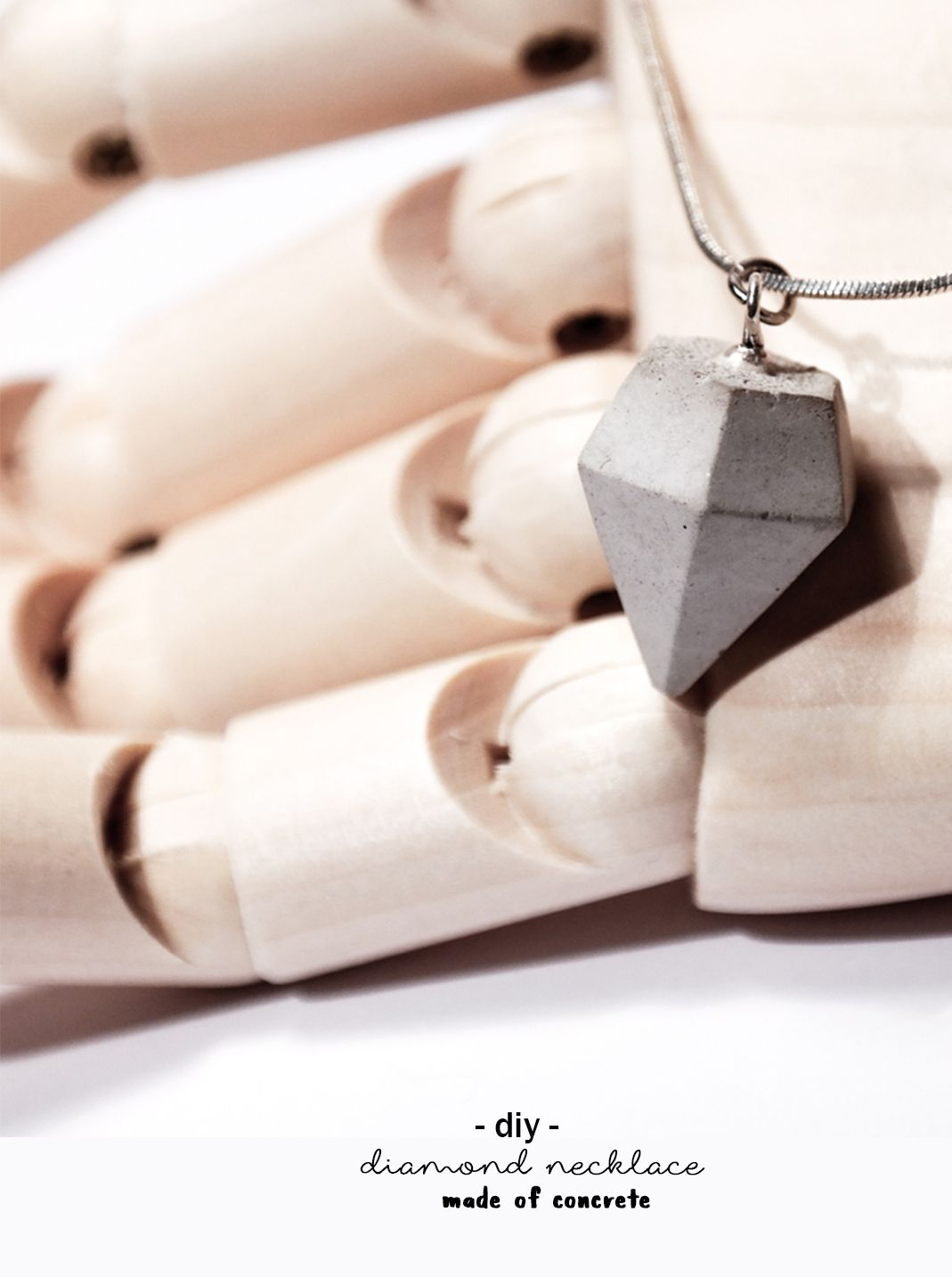 Diy Beton Diamant Kette Do It Yourself Schmuck Handmade