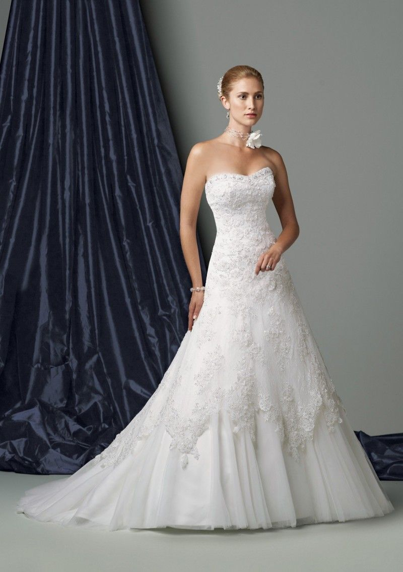 Lace strapless wedding dress finest country wedding dresses