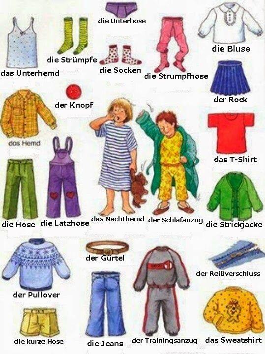 Deutsch Kleidung