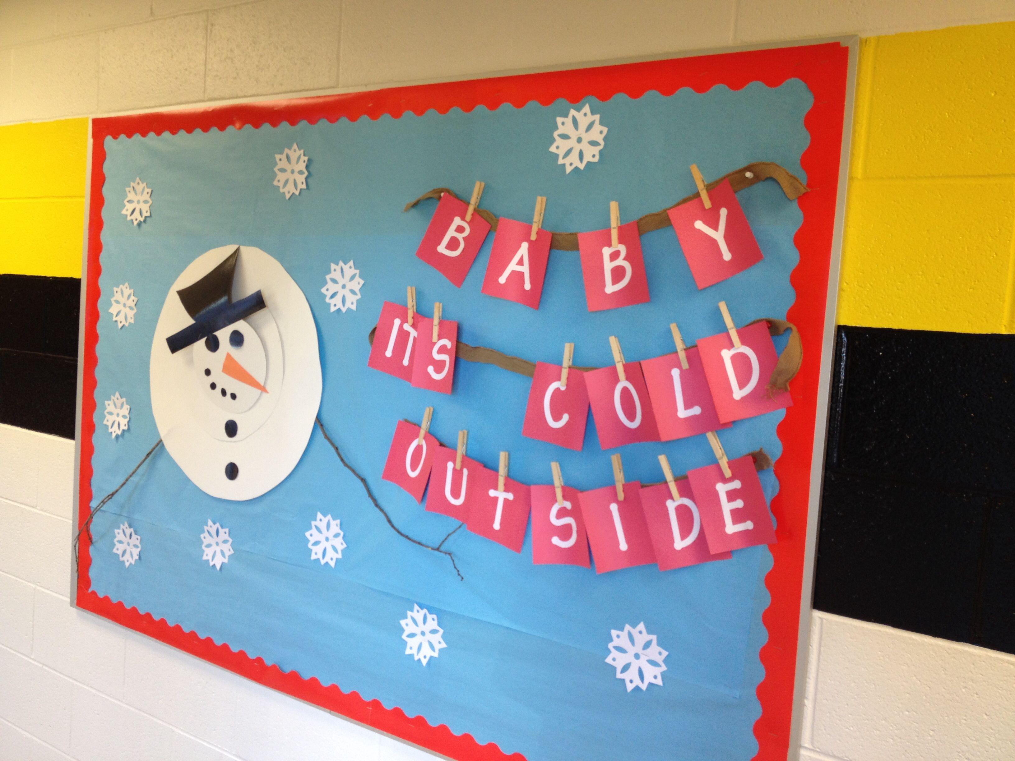 My Winter Bulletin Board Boards Snowman Christmas