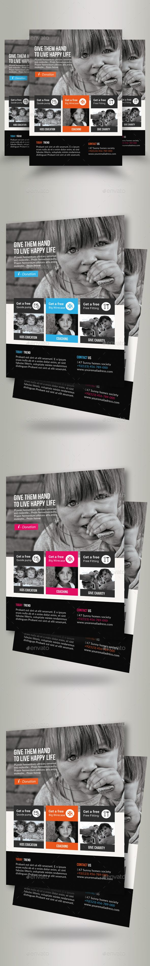 Charity & Donation Flyer Templates | Flyer template, Template and ...