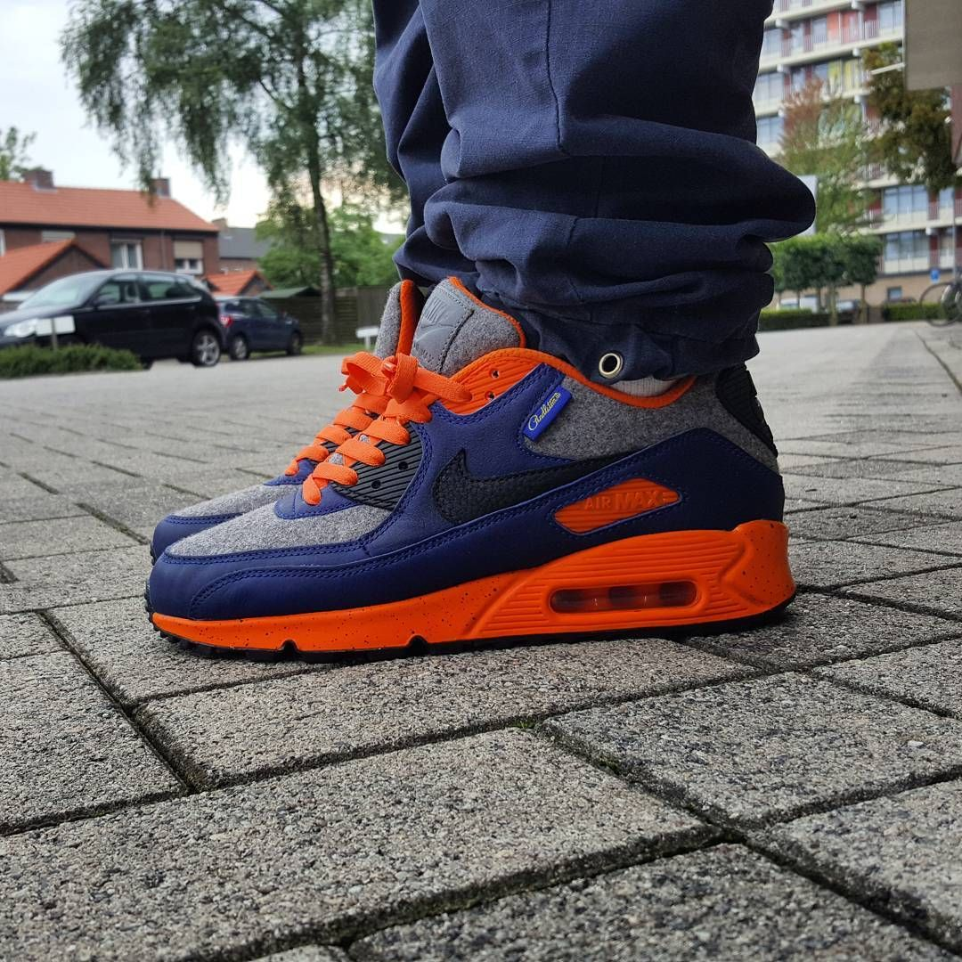 6b6a13c419 Nike Air Max 90 x Pendleton NikeiD aka Orange Madness @pattajunky https://